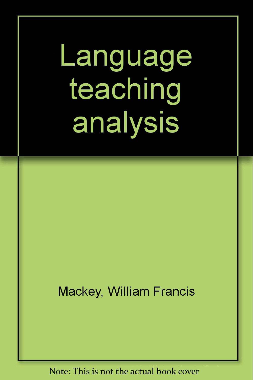 pdf language teaching analysis mackey