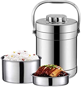 HJJMG-FANHE Bento Lunch Box, Stainless Steel Insulated Food Jar Leak Proof Design, Lunch Box Thermoses Food Storage Container Thermos for Kids School Picnic Office Outdoors enjoy a hot lunch on the g