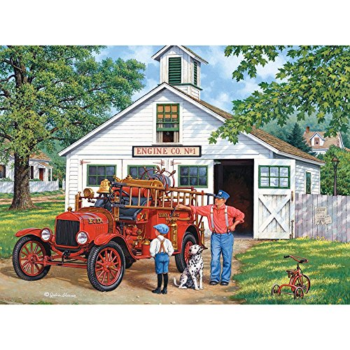 Bits and Pieces - 300 Piece Jigsaw Puzzle for Adults 18X24 - The Inspector - 300 pc Jigsaw by Artist John Sloane