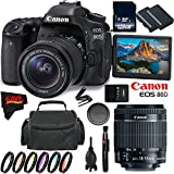 Canon EOS 80D DSLR Camera + 18-55mm Lens + 128GB Memory Card International Version