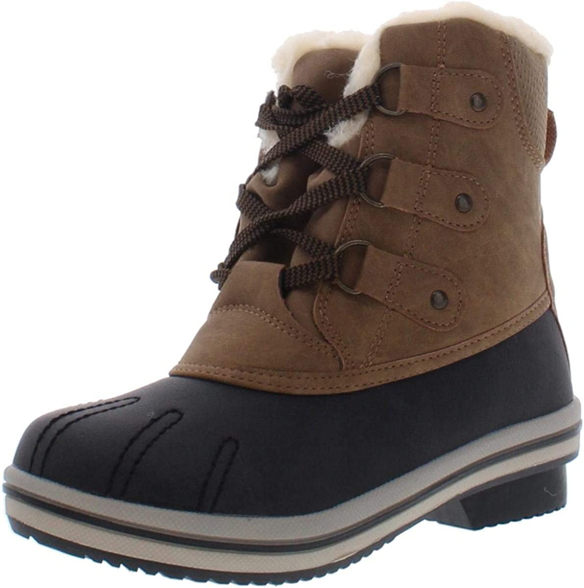 Pawz Womens Ginnie Duck Boot Cold M Boots Weather shop Brown 9 Winter security