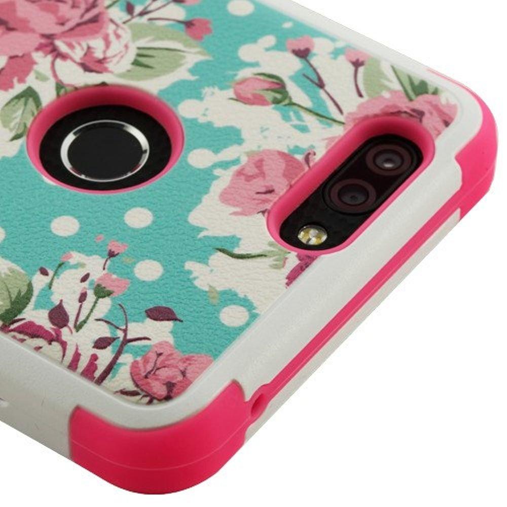 MyBat Mybat TUFF Hybrid Case Cell Phone Case Spring Flowers//Electric Pink