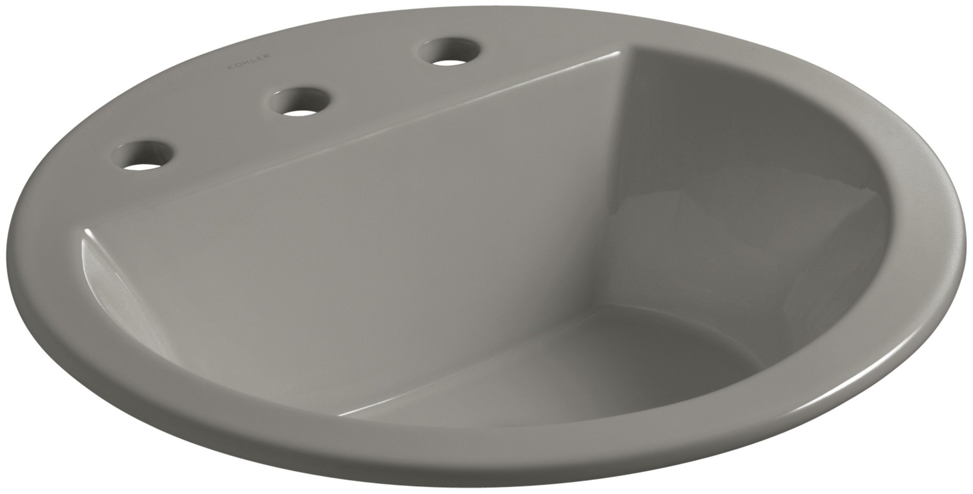 KOHLER K-2714-8-K4 Bryant Round Drop-In Bathroom Sink with Widespread Faucet Holes, 8'', Cashmere by Kohler