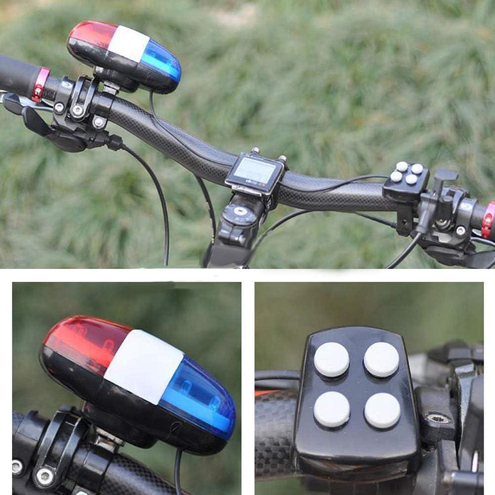 pushfocourag V/élo de Police LED Lumi/ère sonore sonore Trompette Klaxon Outil de Sonnette