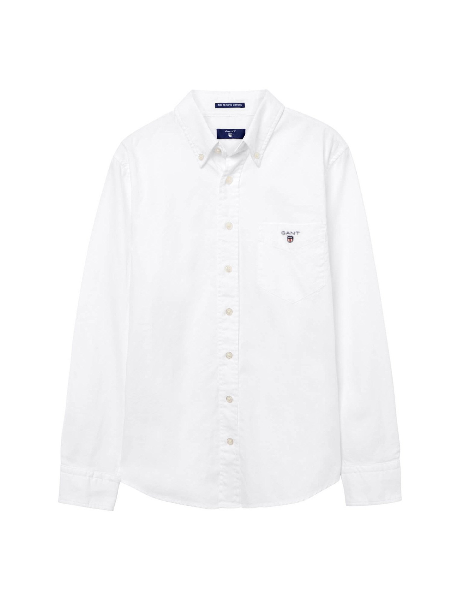 Gant Boy's White Long Sleeve Cotton Shirt in Size 3 Years (98 cm) White