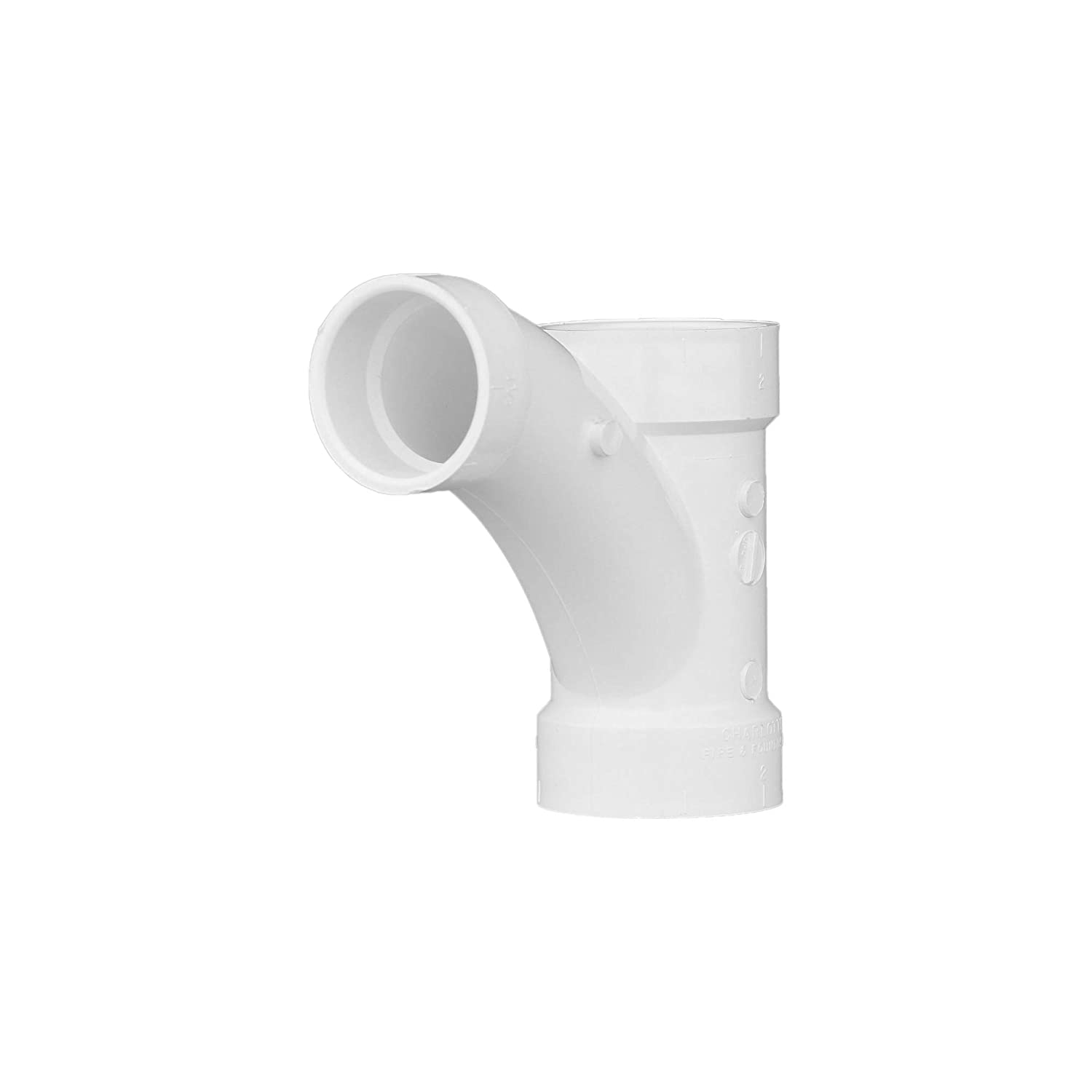 "Charlotte Pipe 2"" X 2"" X 1-1/2"" Comb Wye Pipe Fitting - and 1/8"" Bend 1"" Piece Schedule 40 PVC DWV (Drain, Waste and Vent) Durable and Easy to Install for Home or Industrial Use (Single Unit)"