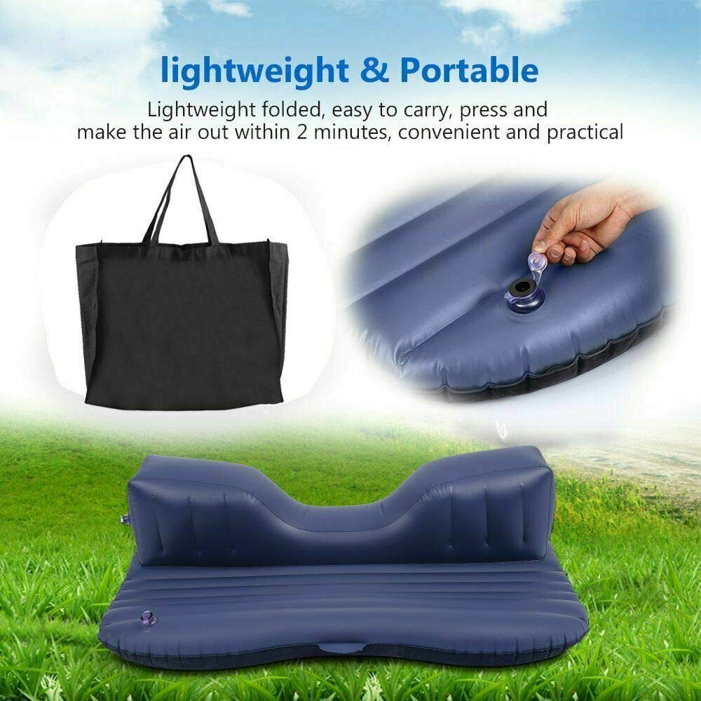 maxgoal 53'' Car Air Bed Inflatable Mattress Back Seat Cushion with Pillows for Travel MX G83584