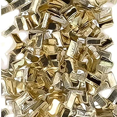 Yellow Silver Solder Ultra Tiny Precut Pieces 0.5mm X 1mm X .25mm Hard Density Chip (Qty=1500) by uGems by uGems
