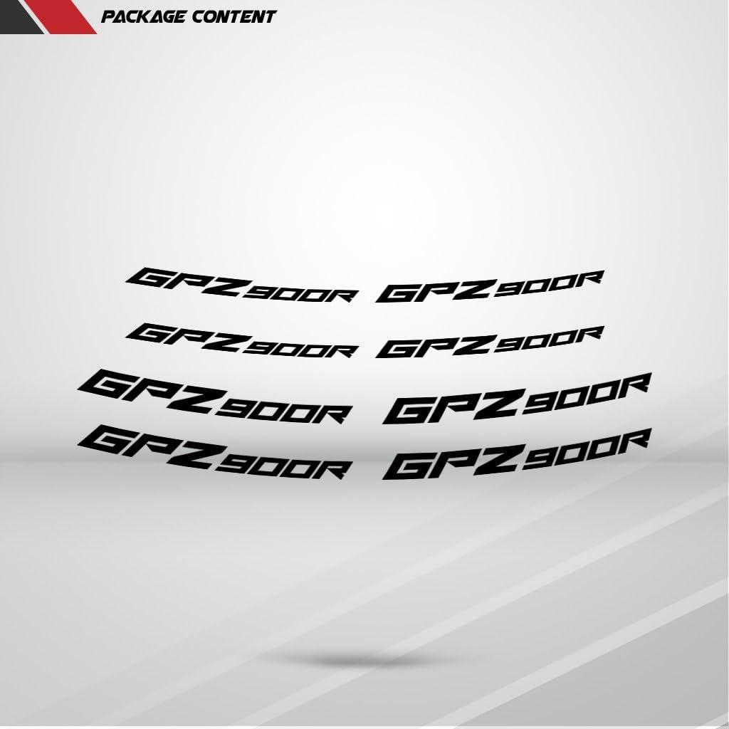 Stickman Vinyls Reflektierende Silber Motorrad Inner Rim Tape Decal Aufkleber Kompatibel Mit Kawasaki Gpz 900r Auto