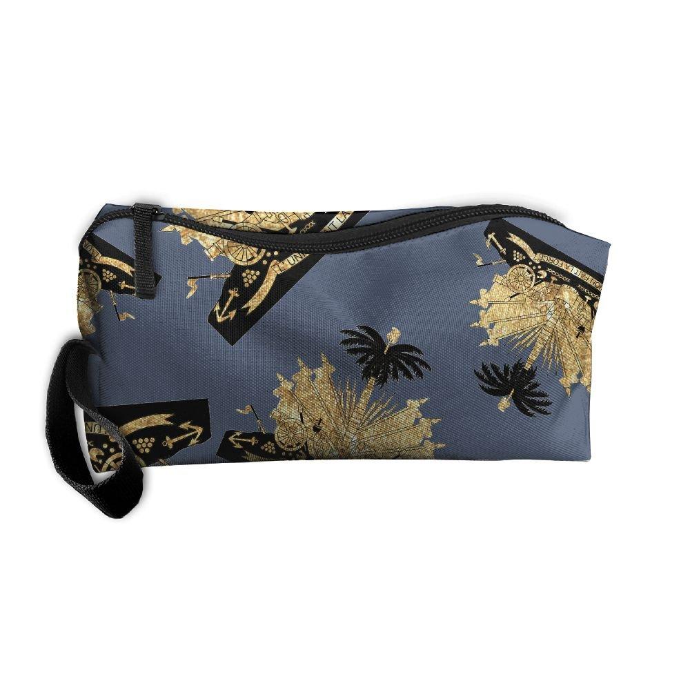 Haiti Coat Of Arms Men Shaving Kit Multifunction Portable Travel Makeup Bag With Strong Zipper