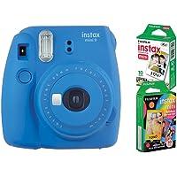 Câmera instantânea Fujifilm Instax Mini 9 Azul Cobalto + 2 Packs c/ 10 fotos