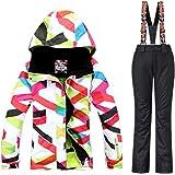 GS SNOWING Women Winter Ski Suit Snowboard Jacket and Pant Set