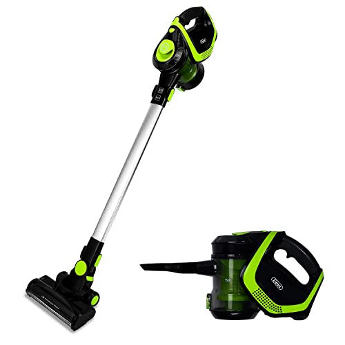 2 in 1 Upright Stick and Handheld Powerful Suction Vacuum Cleaner with Cordless Design and HEPA Filter E-GEVCC932-U-7 , Lightweight and Rechargeable Wall Mounted Design