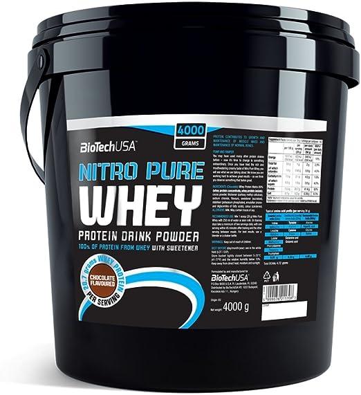 BioTech Nitro Pure Whey Proteínas Sabor Cereza y Yogurt ...