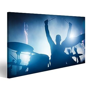 islandburner Bild Bilder auf Leinwand Schlagzeuger spielt auf ...