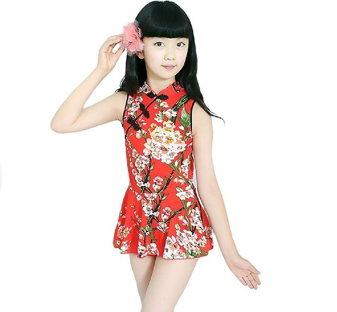 Amazon.com: tingping Qipao falda estilo traje de una pieza ...