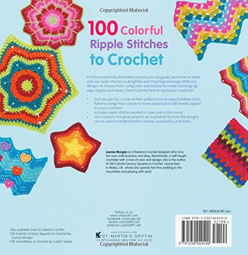 100 Colorful Ripple Stitches To Crochet 50 Original Stitches 50
