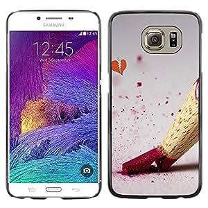 Paccase / SLIM PC / Aliminium Casa Carcasa Funda Case Cover - Design Color Pencil - Samsung Galaxy S6 SM-G920