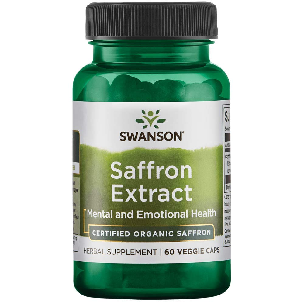 Swanson Saffron Extract 2% Safranal 30 Milligrams 60 Veg Capsules