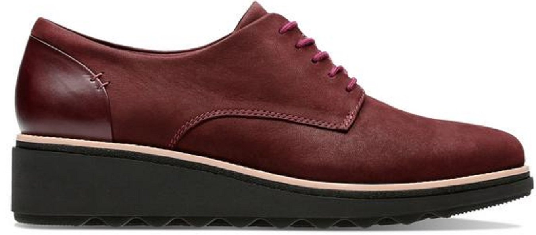 Clarks Sharon Noel, Zapatos de Cordones Derby para Mujer 40 EU|Marrón (Burgundy Nubuck -)
