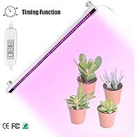 Semlos pflanzenlampe 10W, Led Pflanzenlampe Automatic Timer [2/4 / 8H], 48 LEDs Plant Growth Light, usb pflanzenlampe dimmbar 4 Lichter für Zimmerpflanzen[Energieklasse A+]
