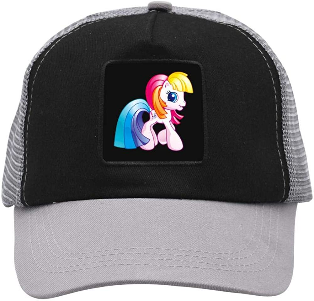 Rainbow Unicorn Mesh Caps Adjustable Unisex Snapback Trucker Cap
