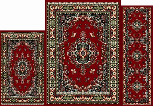 Home Dynamix   Ariana Collection   3-Pie - Claret Traditional Rug Shopping Results