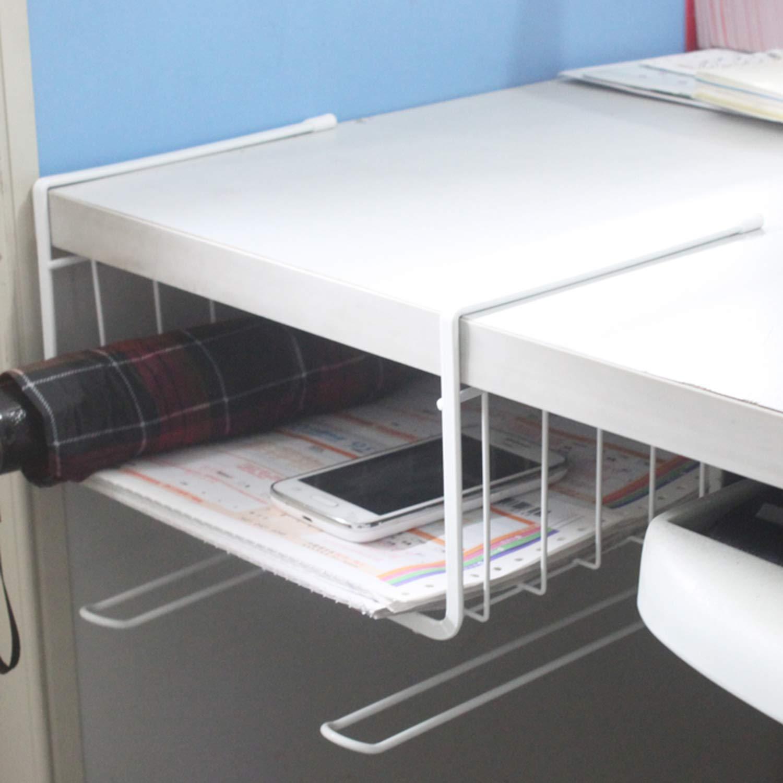 Bianco FairytaleMM Design Unico in Metallo Ferro da Cucina di casa Scaffale a Ripiani Mutifunctional Office Cucina Bagno Ripiani Organizzatore