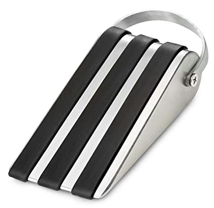 Beau DelTucci Door Stop   Door Stopper With Modern Door Hook  Stainless Steel  Decorative Door Stops
