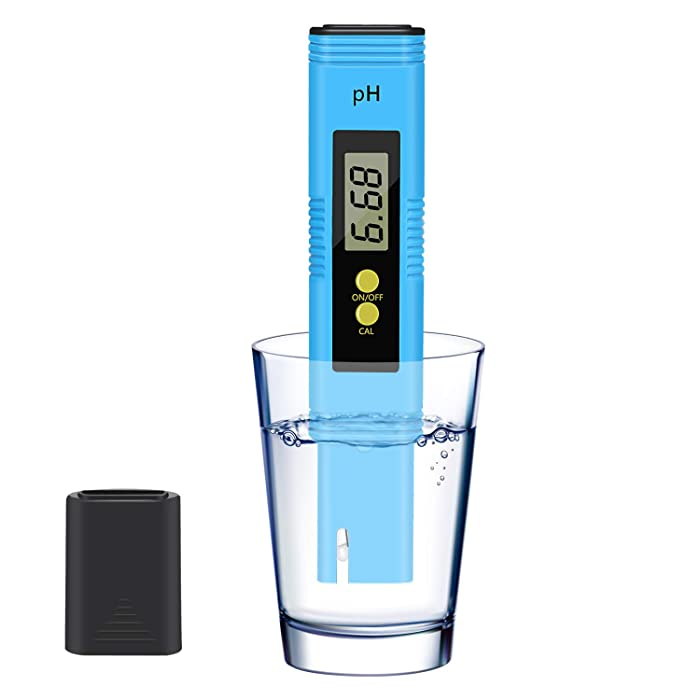 KWODE PH Meter Digital PH Tester Pen for Water/Food/Wine/Aquarium/Pool/Spa/Hydroponic, PH Water Meter Reader 0.01 High Accuracy Pocket Size with 0-14 PH Measurement Range (Blue)