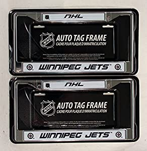 Winnipeg Jets NHL Chrome Metal (2) License Plate Frame Set