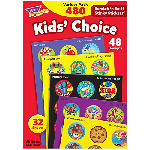 Kids Choice Variety Pack - TREND enterprises, Inc. T-089BN Kids' Choice Stinky Stickers Variety Pack, 480 Per Pack, 2 Packs