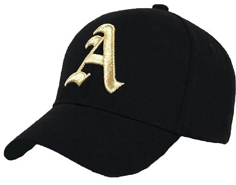 c60af14cf67 Casual Baseball Gothic A Letter Cap Caps bSnap Back Hat Hats Snapback (E) (