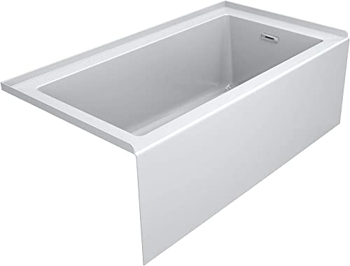 Jacuzzi LNS6036BRXXXXW Linea 60 Three Wall Alcove Acrylic Soaking Tub with Right Drain