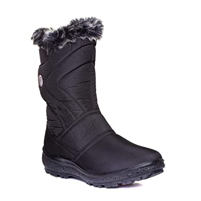 95ff86378432f Cushion Walk Womens Black Faux Fur Calf Boot: Amazon.co.uk: Shoes & Bags