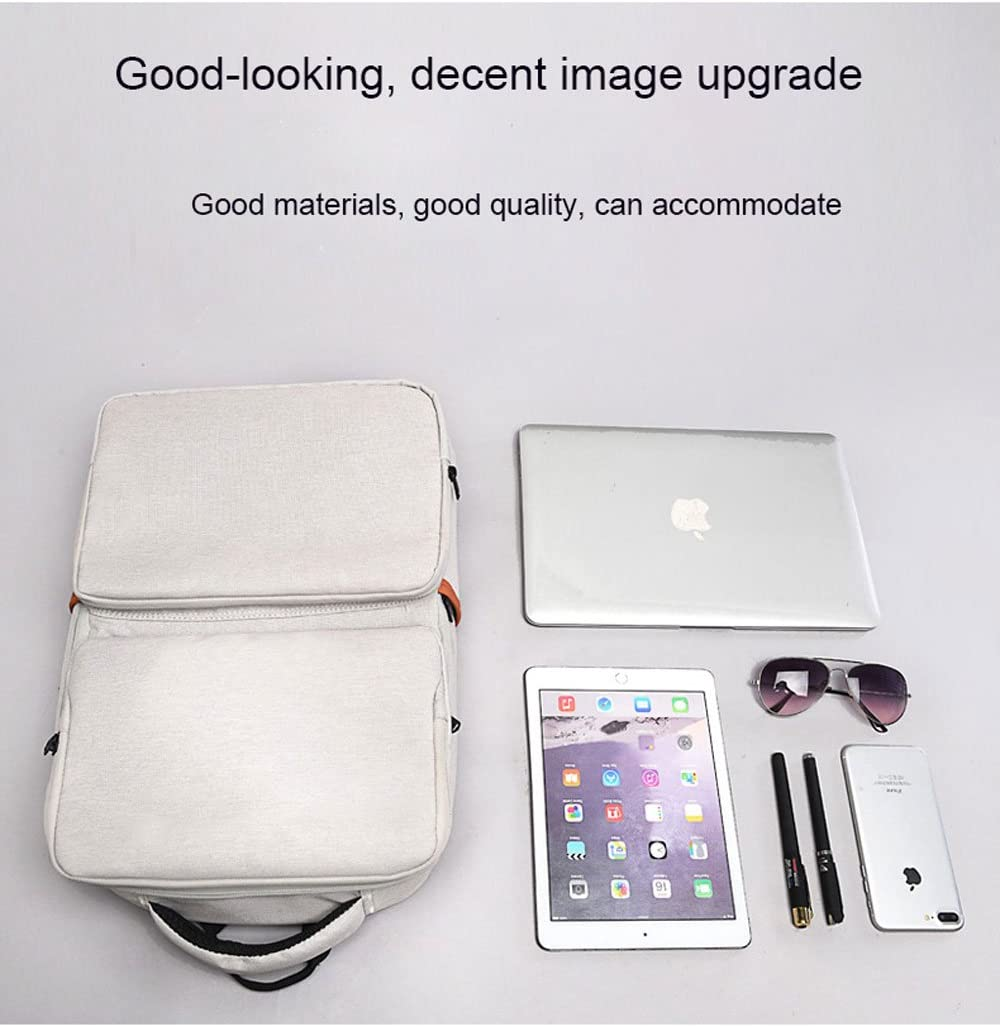 Color : Gray, Size : 15.6 inch SHXDMY Backpack Simple Bag Men and Women Travel Bag 15.6-inch Business Bag Briefcase
