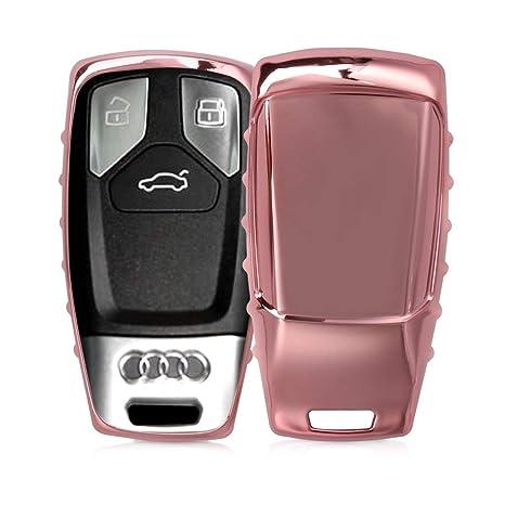 kwmobile Funda para Llave Smartkey de 3 Botones para Coche Audi (Solamente Keyless Go) - Carcasa [Suave] de [TPU] para Llaves - Cover de Mando y ...