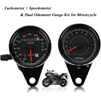 KKmoon 13000 RPM Tacómetro + Dual Odómetro Velocímetro