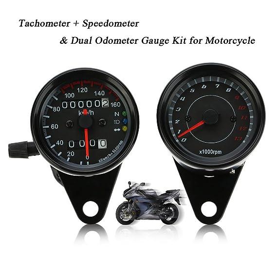 Tacómetro + Dual Odómetro Velocímetro Universal