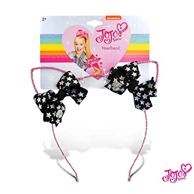JoJo Siwa Girls Glitter Cat Ear with Mini Bow Headband: Toys & Games