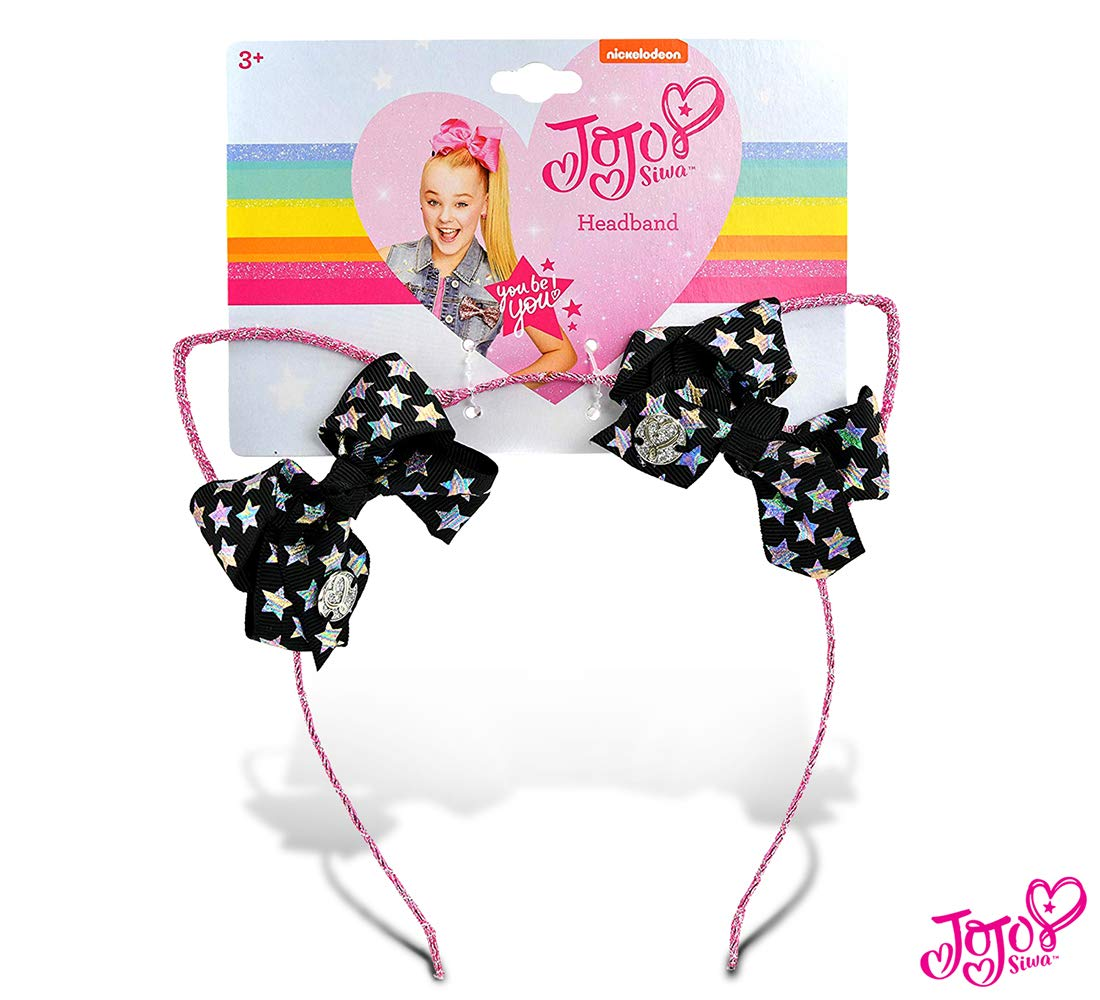 JoJo Siwa Girls Glitter Cat Ear Mini Bow Headband JJ2954FBLDIR