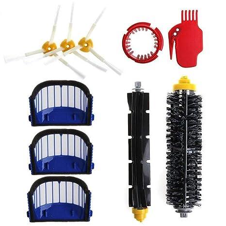 STRIR Kit cepillos repuestos de Accesorios para iRobot Roomba Serie 600 605 610 615 616 620