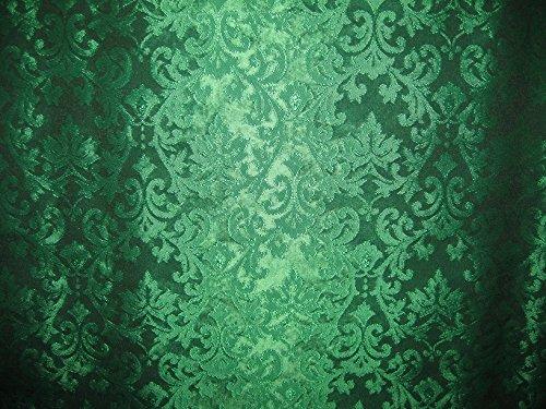 Spun Brocade Fabric Emerald Green colour 44