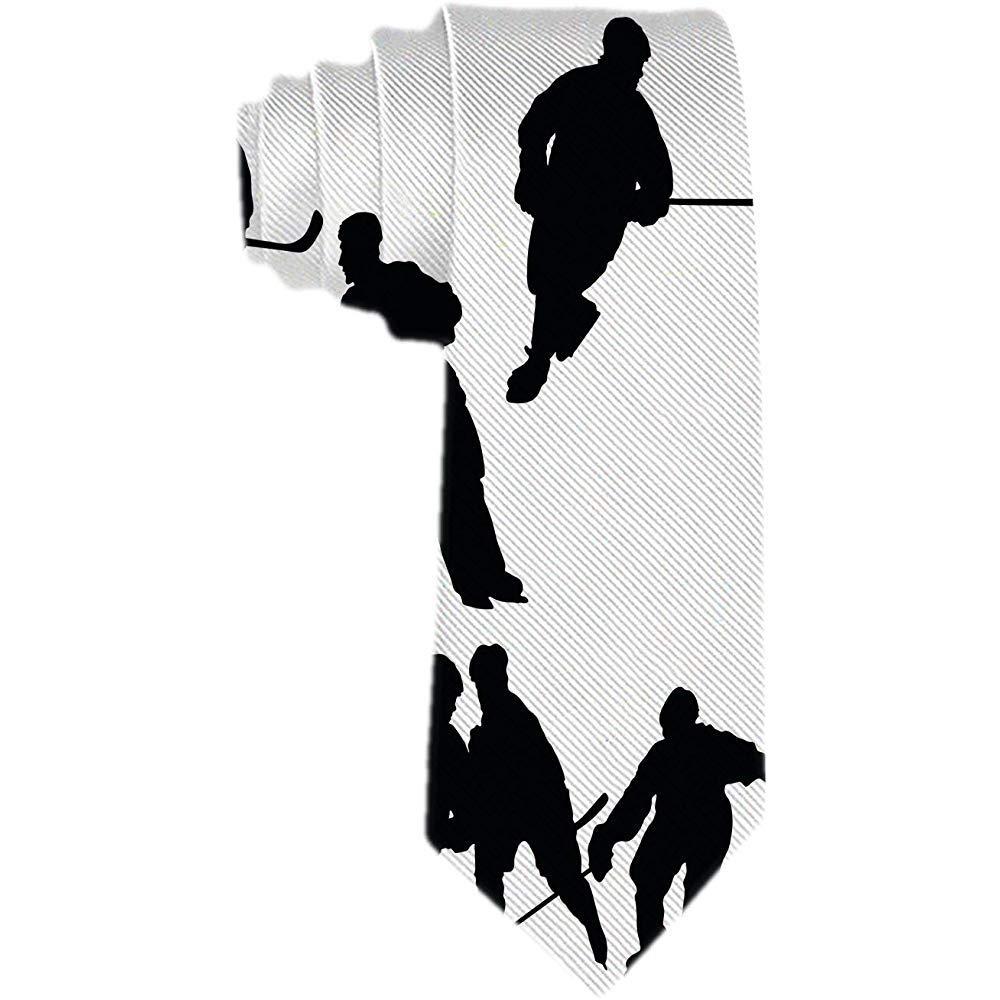 Corbata de hombre Siluetas de hockey Corbata de seda clásica ...