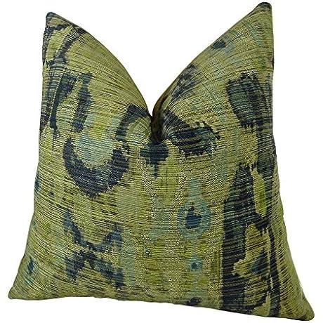 Plutus Brands Plutus Bear Canyon Handmade Throw Pillow 24 X 24 Green Navy Blue