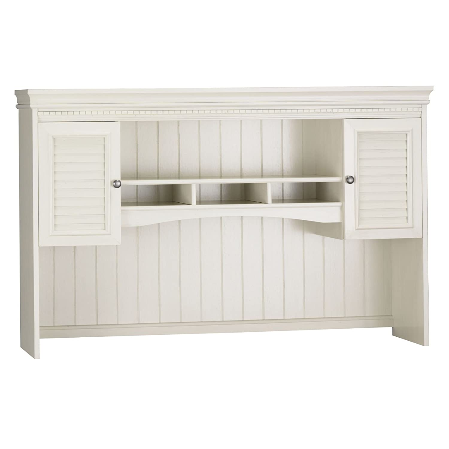 White desk with hutch and antique white home office furniture office depot home o - Antique white home office furniture ...