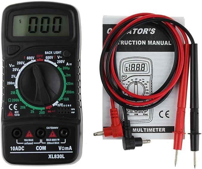 DC OHM Volt Tester Test Current DOMYBEST Multim/ètre LCD Num/érique Voltm/ètre Amp/èreur AC B