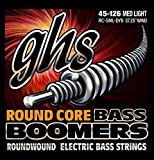 GHS Strings RC-5ML-DYB Round Core Bass Boomers, 5-Set, Medium Light Gauge (37.25'' winding)