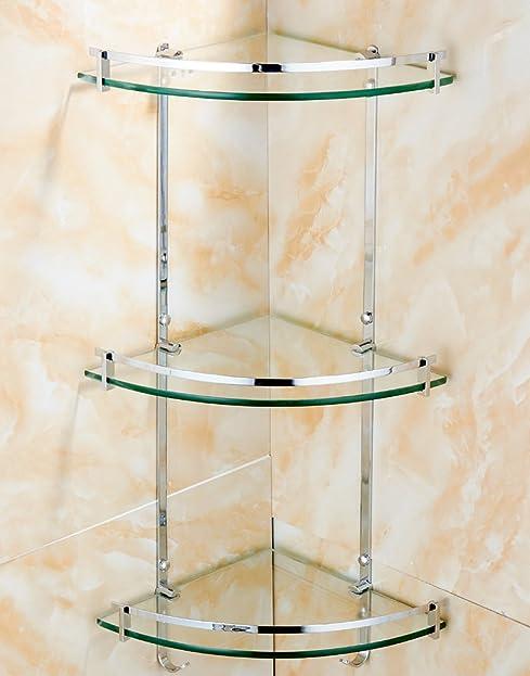 badezimmer glas beschichtung regale mit kleidung aufhngehaken badezimmer eckregal wandhalterung dreieck regal korb - Eckregal Dusche Glas