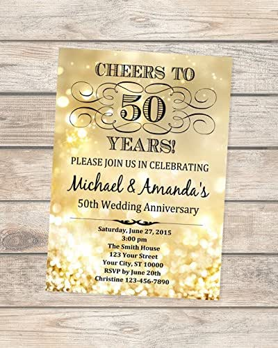50th Wedding Anniversary Invitation Ideas